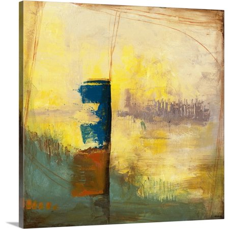 Great BIG Canvas | Jennifer Goldberger Premium Thick-Wrap Canvas entitled Aquamarine Aura III ()