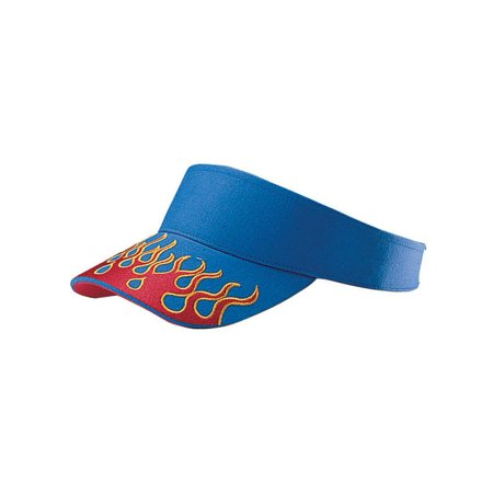 VISOR W/FLAME EMBROIDERY ON