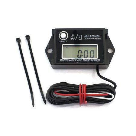 Digital Tachometer / Hour Meter for 2 & 4 Stroke Spark Small Gas Engines Motors by The ROP Shop