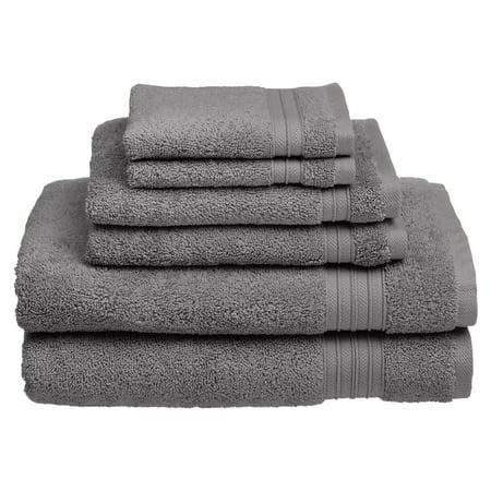 Aged Pewter Towel (HygroSoft by Welspun Bath Towel)