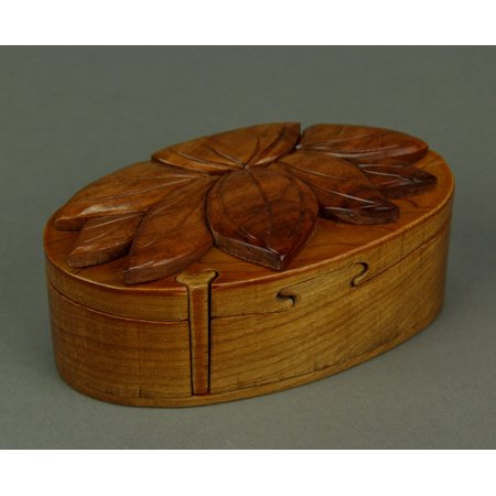 Hand Crafted Wood Lotus Flower Puzzle Trinket Box Walmart Canada