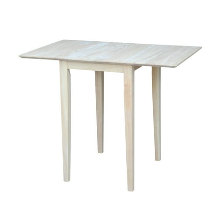 International Concepts Unfinished Bardwell Small Drop Leaf Dining Table