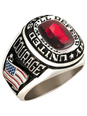 Personalized Family Jewelry Men's Military Ring available in Valadium Metals, Silver Plus, 10kt and 14kt Yellow and Gold