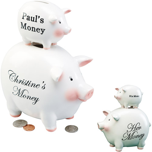 Personalized His 'n Hers Piggy Bank