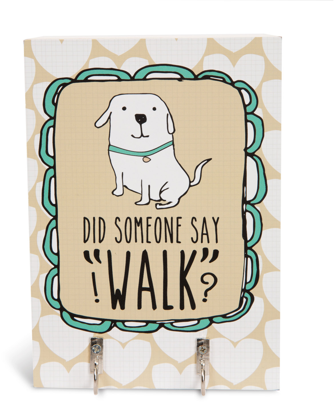 Pavilion Did Someone Say Walk Key And Dog Leash Holder Wall Decor