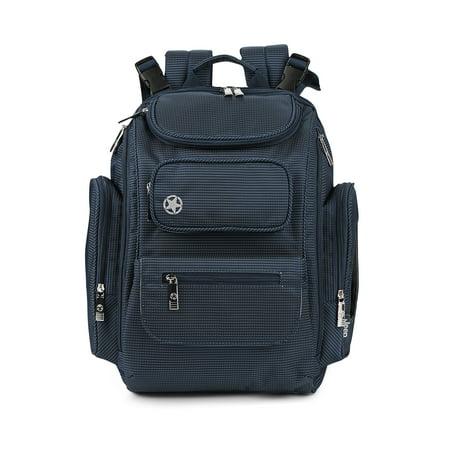 Jeep Adventurers Backpack Diaper Bag- Blue Pin Dot