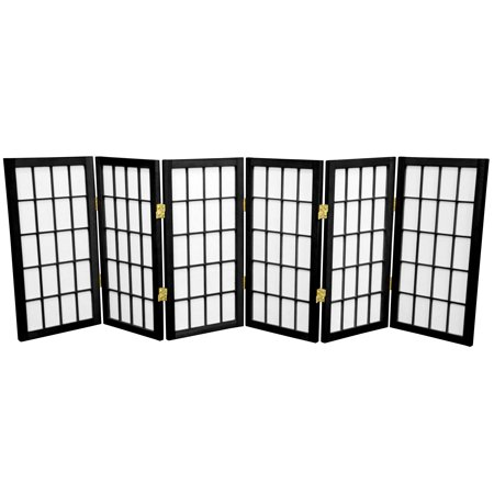 2' Tall Desktop Window Pane Shoji Screen (2 Ft Tall Desktop Window Pane Shoji Screen)