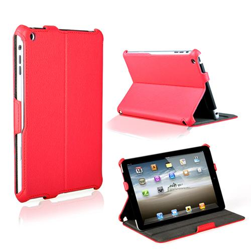 Red Slim PU Leather Case Cover and Stand for iPad Mini Tablet