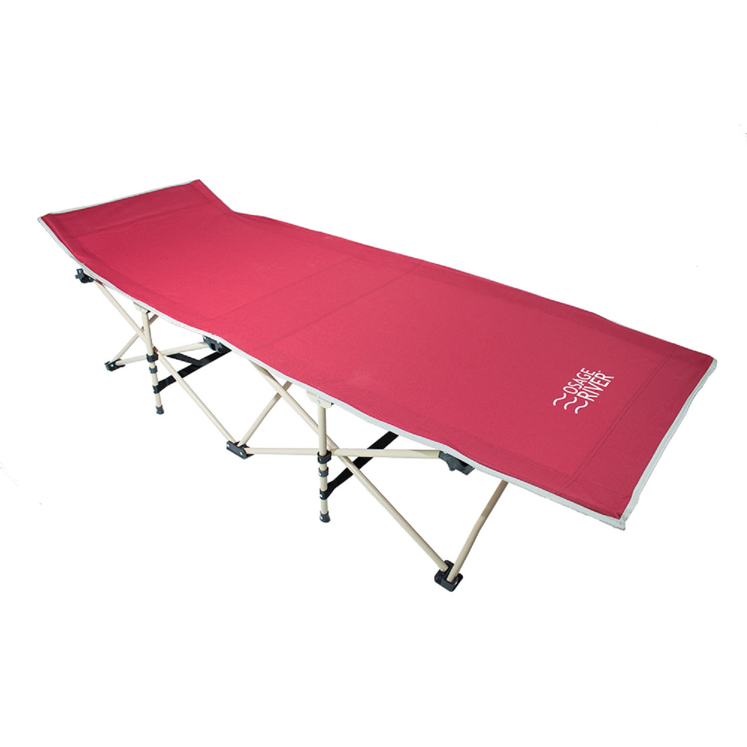 Osage River Folding Camp Cot with Carry Bag Red by Osage River