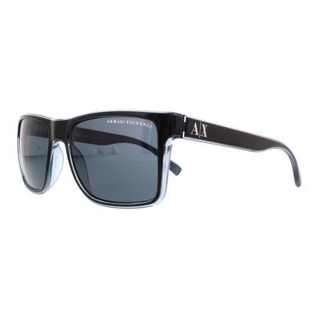 545b1e8e8b ARMANI EXCHANGE - ARMANI EXCHANGE Sunglasses AX4016 805187 Black  Transparent Blue Grey 57MM - Walmart.com
