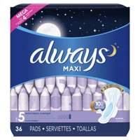 Always Maxi Super Pads, Winged, Unscented, Extra Heavy, Size 5, 36 ct