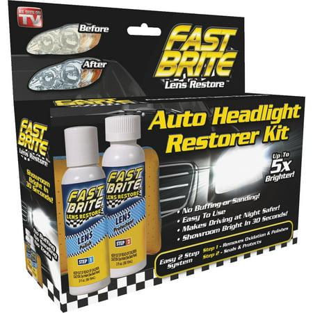 As Seen On TV Fast Brite Headlight Restorer!