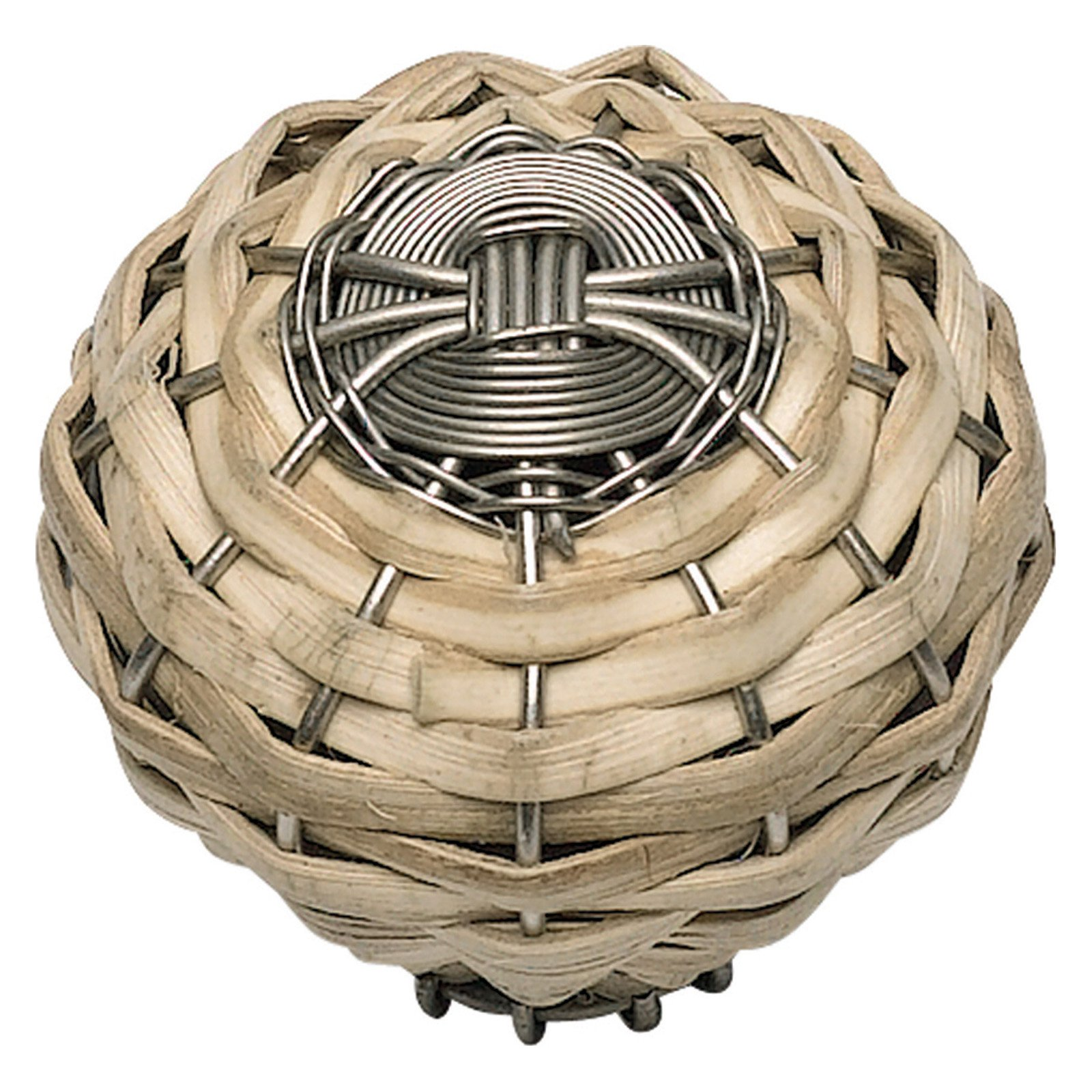 Hamptons Collection 1-1/2 in. Bamboo And Brushed Nickel Cabinet Knob
