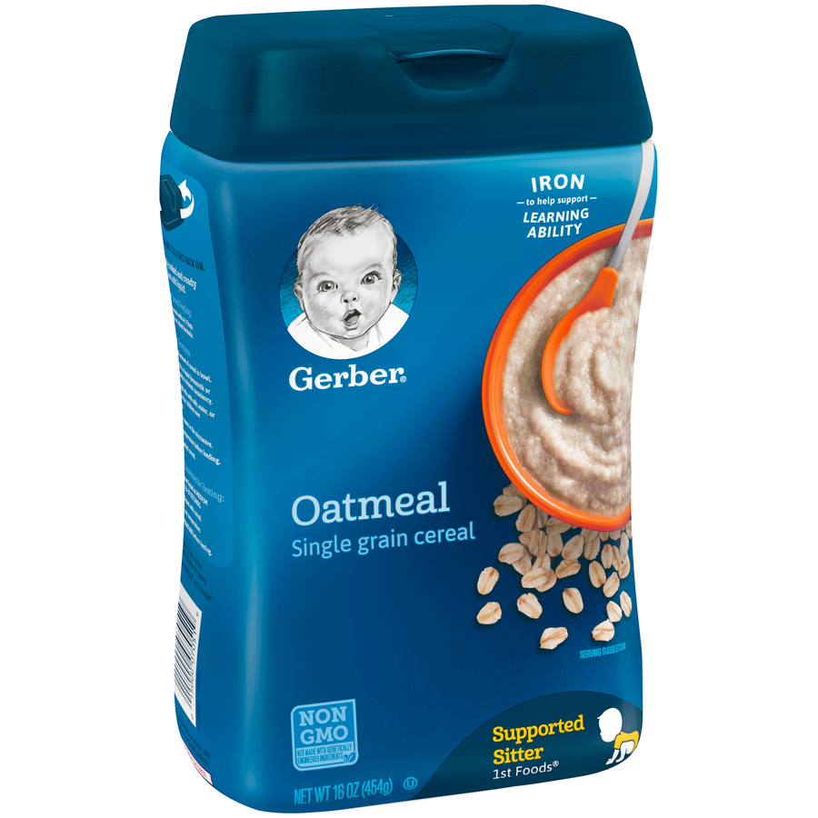 Gerber Single-Grain Oatmeal Baby Cereal, 16 oz