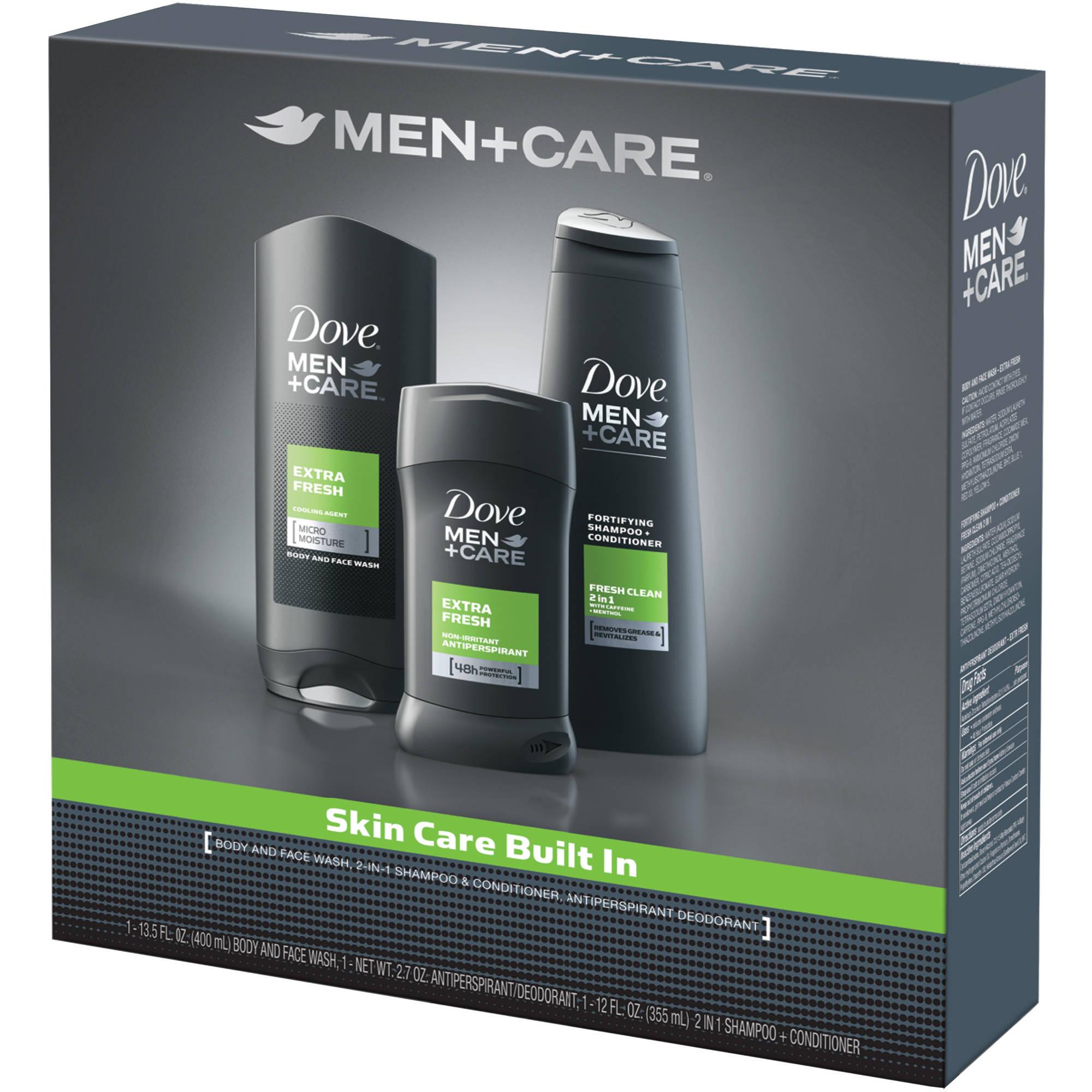 Dove Men + Care Extra Fresh Hygiene Kit, 3 pc - Walmart.com