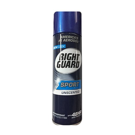 Guard High Protection (Right Guard Unscented Odor Protection Sport Antiperspirant Deodorant, 6)