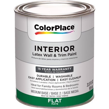 Colorplace Interior Flat Medium Base Paint 1 Qt