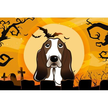Halloween Basset Hound Fabric Placemat BB1801PLMT (Release The Hounds Halloween)