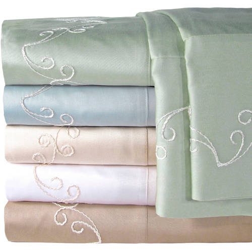 Veratex, Inc. Supreme Sateen 300-Thread Count Scroll Bedding Sheet Set