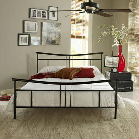 premier annika metal platform bed frame queen black with bonus base wooden slat system