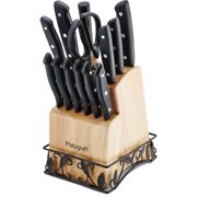 Pfaltzgraff 14-Piece Stamped Triple Riveted Wire Base Knife Block Set