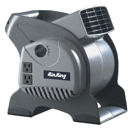 Air King 3-Speed 1/16 HP Pivoting Utility Blower Fan with Grounded Outlets