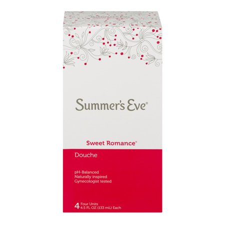 Summer's Eve Douche Sweet Romance, 18 Oz, 4 Ct (Summers Eve Vinegar Douche For Yeast Infection)