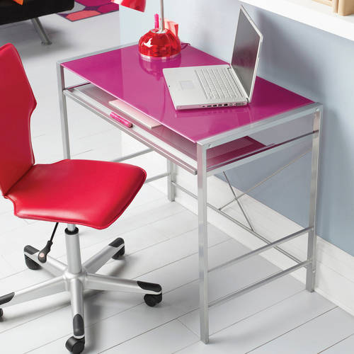 Mainstays Glass-Top Desk, Multiple Colors
