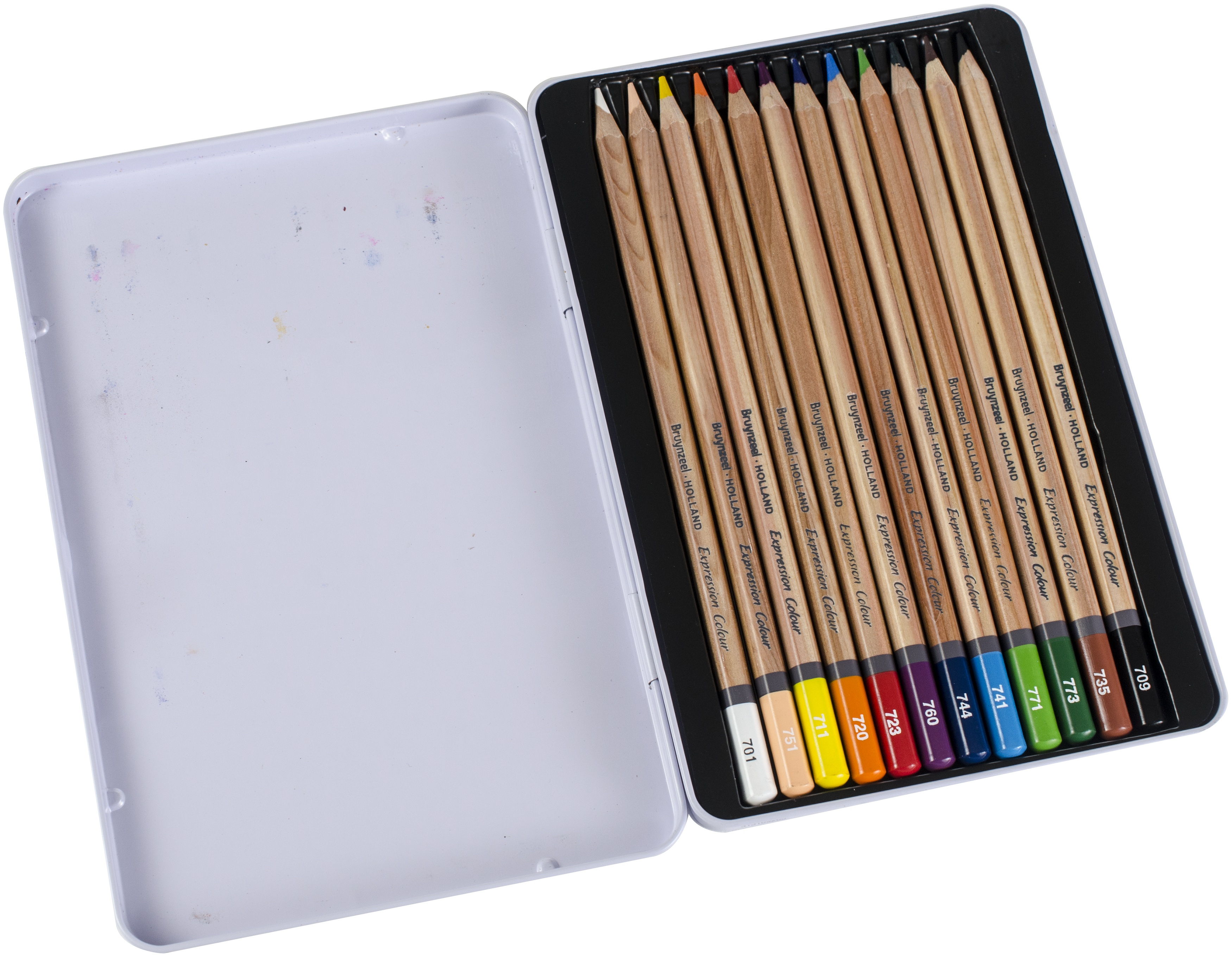 Pink Set 24 Assorted Colours in Metal Gift Tin Bruynzeel Colouring Pencils