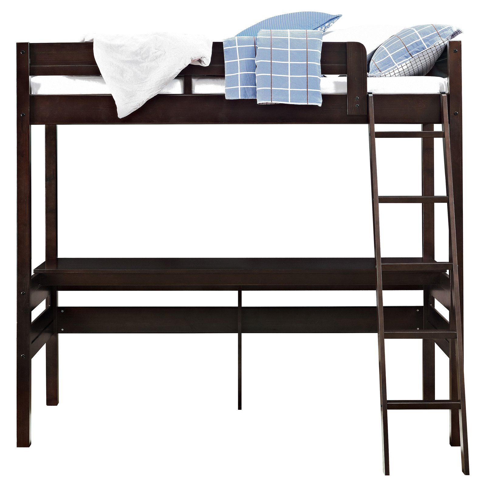 f76e00cb368a Dorel Living Harlan Twin Wood Loft Bed with Desk