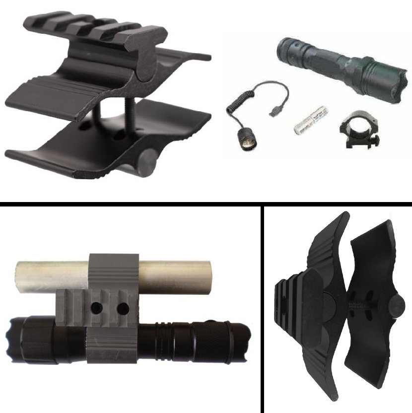 Ultimate Arms Gear Barrel Mag Tube Mount, Black + Flashlight Light Kit For Winchester 12 Gauge Shotgun Paintball Airsoft by