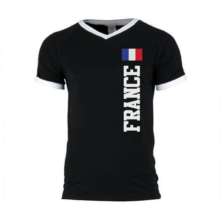 World Cup France Mens Soccer Jersey V-Neck (France Training Jersey)