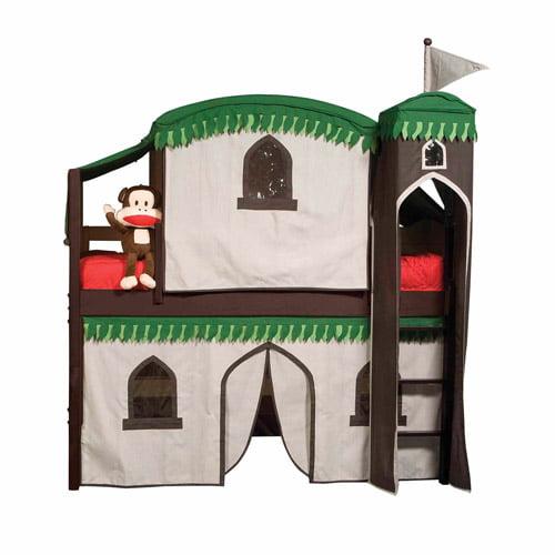 Bolton Furniture Mission Twin Low Loft Bed Espresso Treehouse