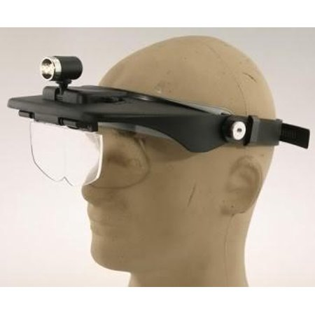 Jeweler's Lighted Head Band Mount Visor Magnifyer