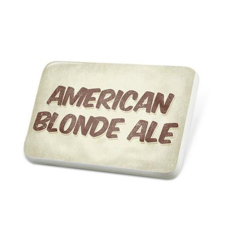 Porcelein Pin American Blonde Ale Beer, Vintage style Lapel Badge – NEONBLOND