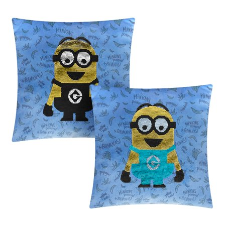 Minions Sequin Reversible 17 x 17 Throw Pillow, 1 Each