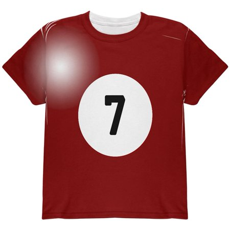 Halloween Billiard Pool Ball Seven Costume Youth T Shirt