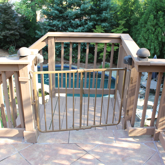 Cardinal Gates Stairway Special Outdoor Child Safety Gate Powder Coated  Brown