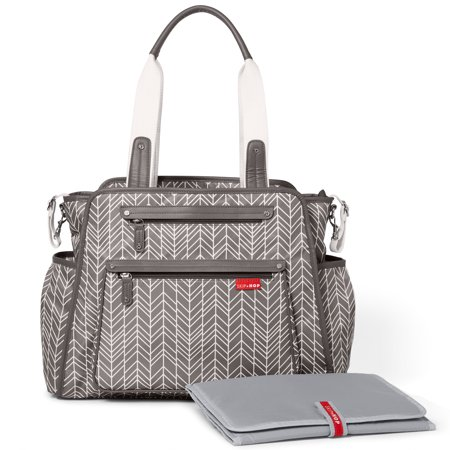 Skip Hop Grand Central Take-It-All Diaper Bag, Grey Feather