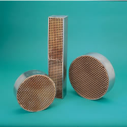 """7"""" Round X 2"""" Catalytic Combustor, 16 Cells/Sq Inch"""