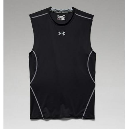 e2e3d57a Under Armour 1257469 Men's Black UA HeatGear Sleeveless Compression Shirt -  2XL