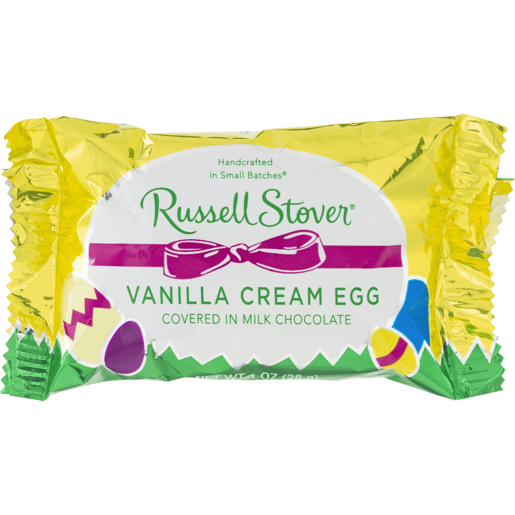 russell stover vanilla cream egg in milk chocolate, 1.0 oz - walmart