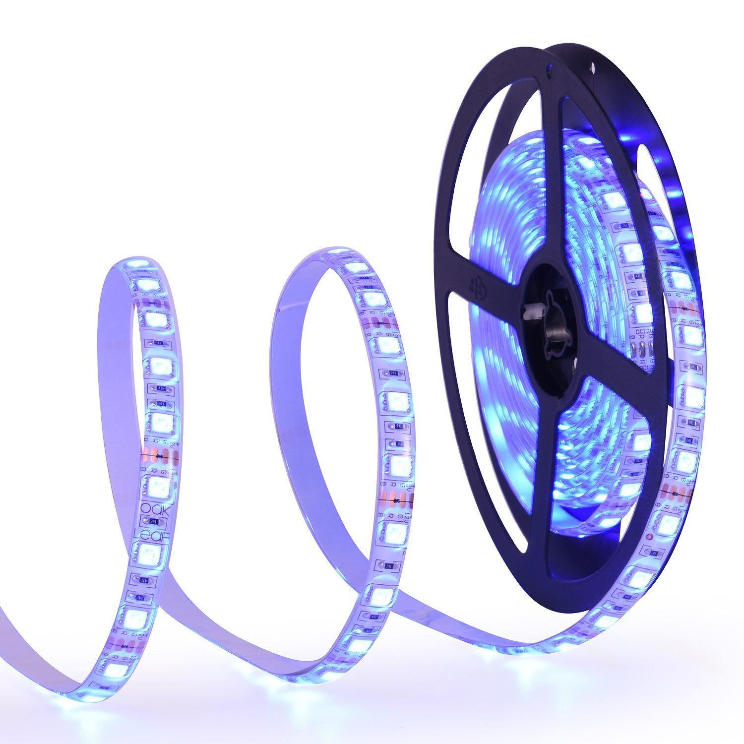 Oak Leaf SMD5050 Waterproof LED Strip Lights 16.4ft RGB Strip Light for Lighting and Decoration