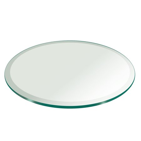 Scrolled Edge Glass Top Table - 48