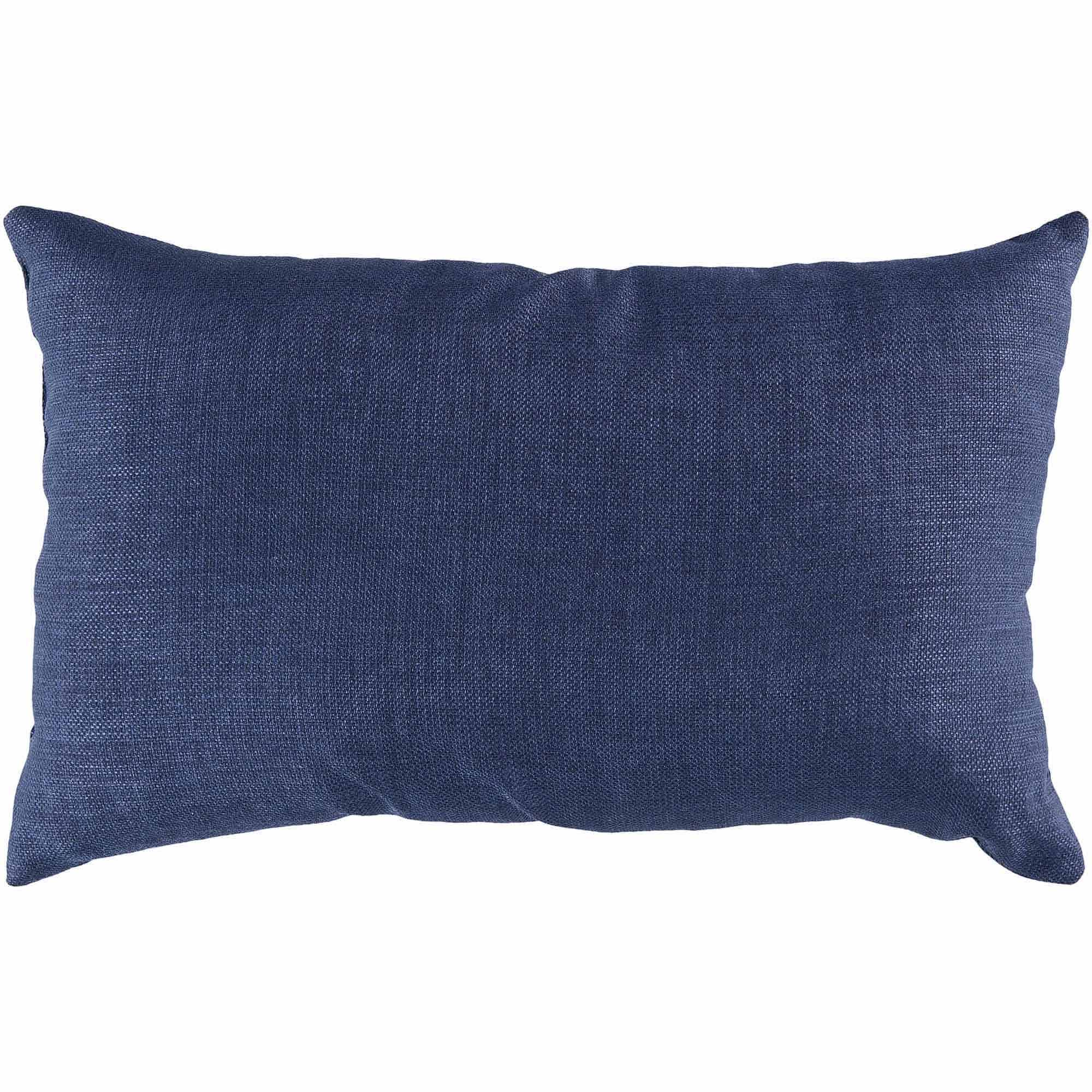 Art of Knot Miami Hand Crafted Solid Indoor/Outdoor Decorative Pillow with Poly Filler, Navy