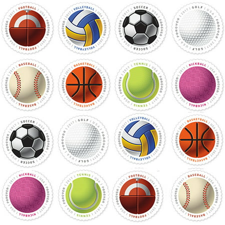 Have a Ball! Sheet of 16 Forever USPS First Class Postage Stamps Baseball Basketball Vollyball Golf
