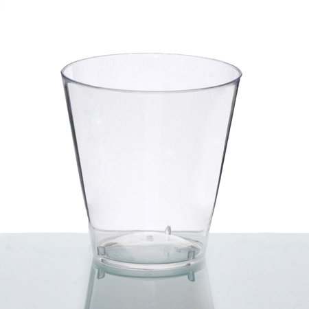 BalsaCircle Clear 50 pcs 2 oz Disposable Plastic Shot Glasses - Wedding Reception Party Buffet Catering Tableware ()