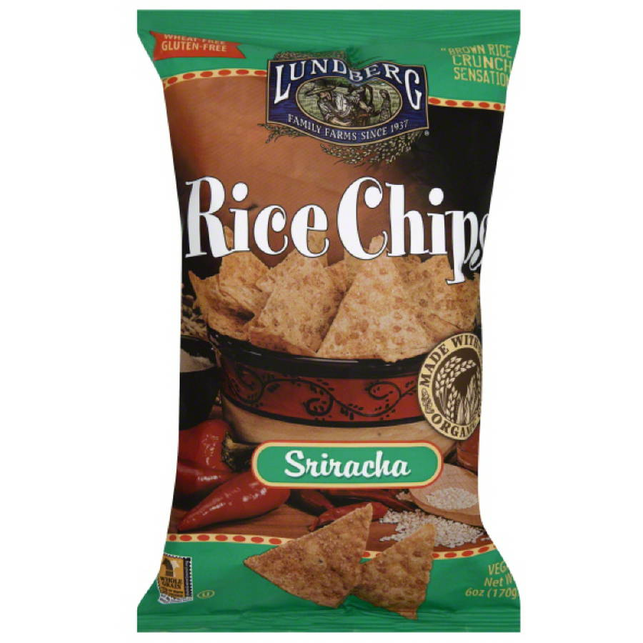 ***Discontinued***Lundberg Family Farms Sriracha Rice Chips, 6 oz, (Pack of 12)