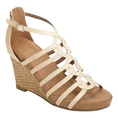 e19f0a002e64 Aerosoles - Women s Great Plush Wedge Sandal - Walmart.com