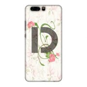 Huawei P10 Plus Case, Premium Handcrafted Designer Hard Snap on Shell Case ShockProof Back Cover for Huawei P10 Plus - Floral Vines- D
